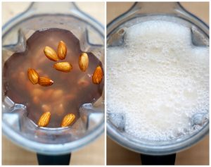 almonds in a vitamix turned into almond milk