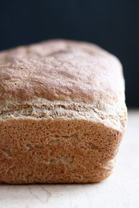 No Knead Whole Wheat Vegan Sandwich Bread