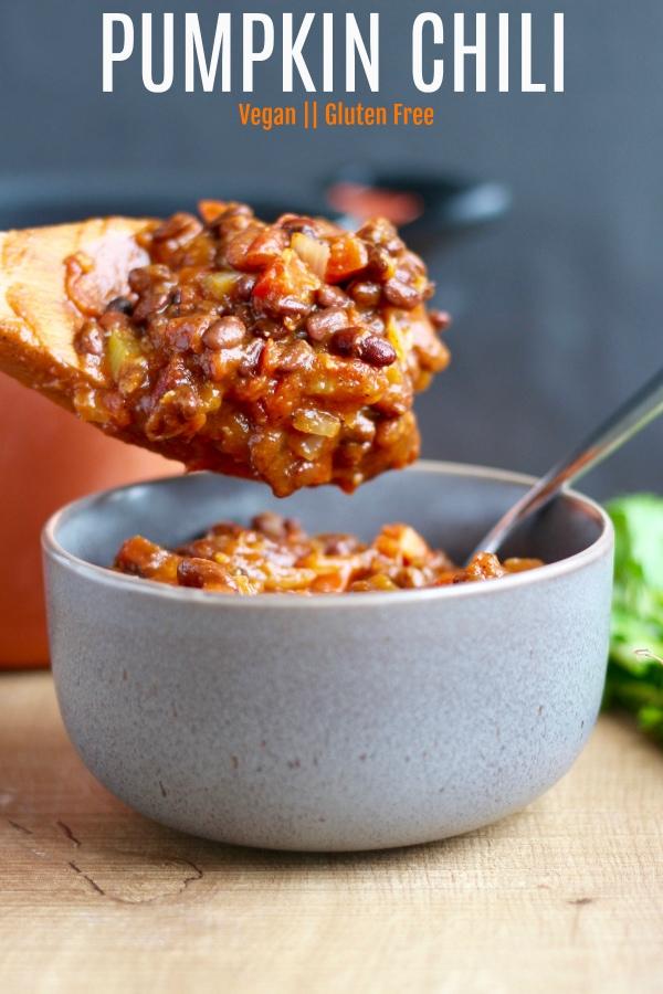 Vegan pumpkin chili recipe
