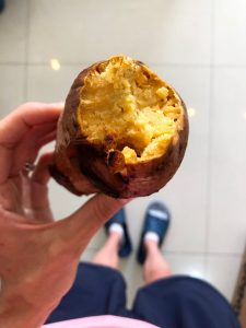 baked sweet potato as a snack