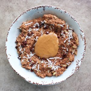 cakey chocolate zucchini oatmeal