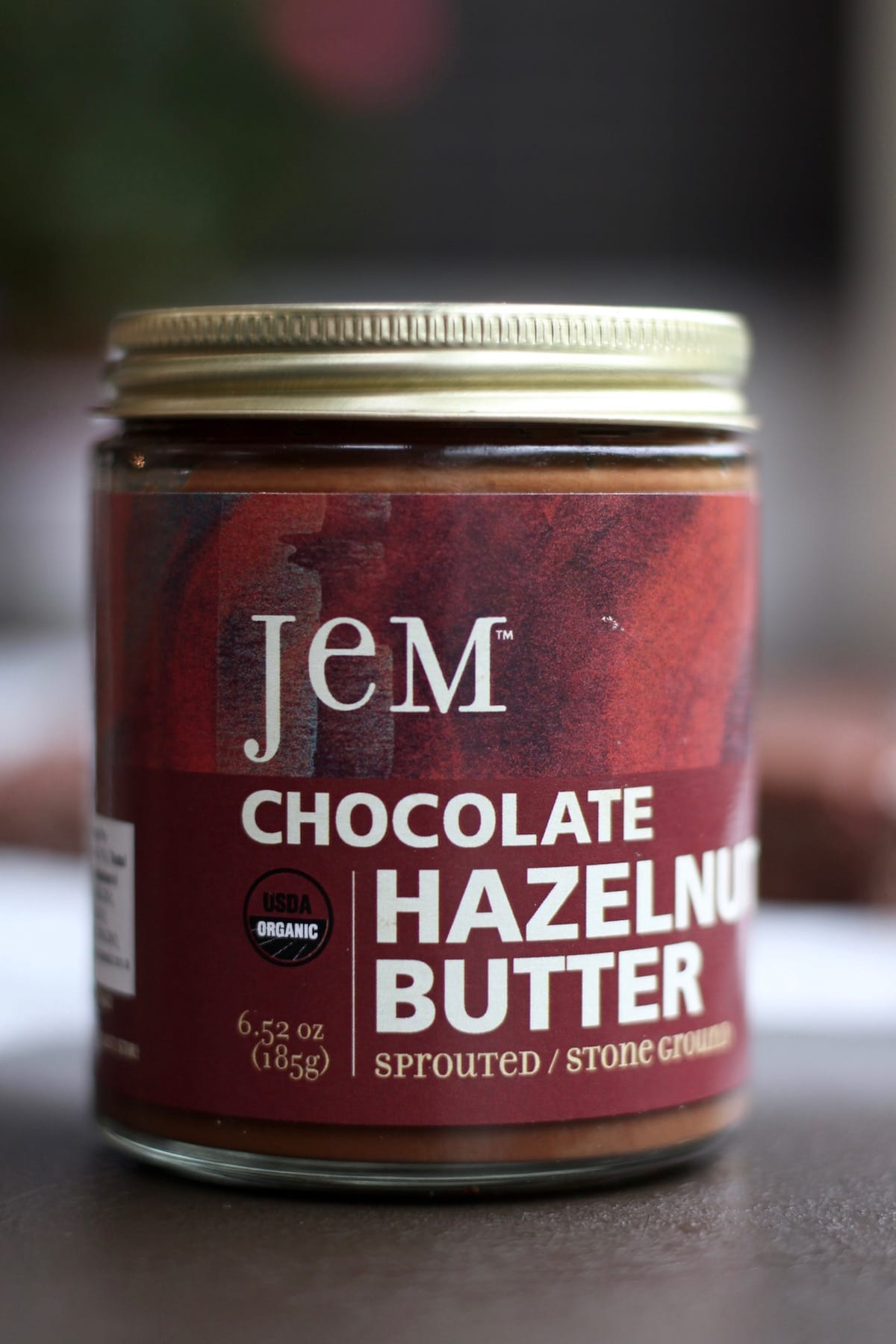 Jem organics chocolate hazelnut butter