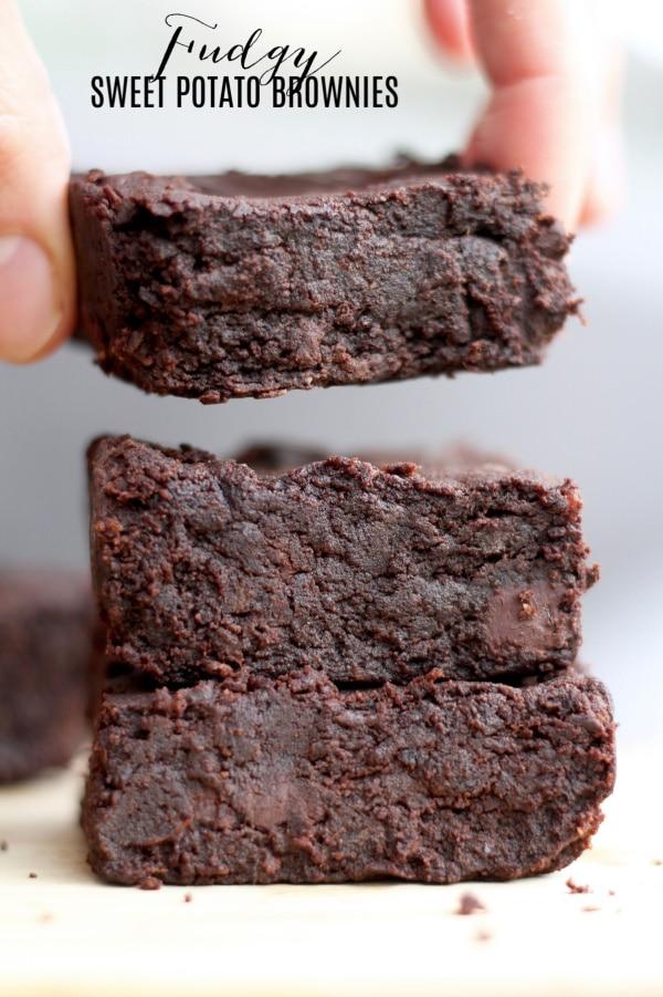 Fudgy sweet potato brownies vegan recipe