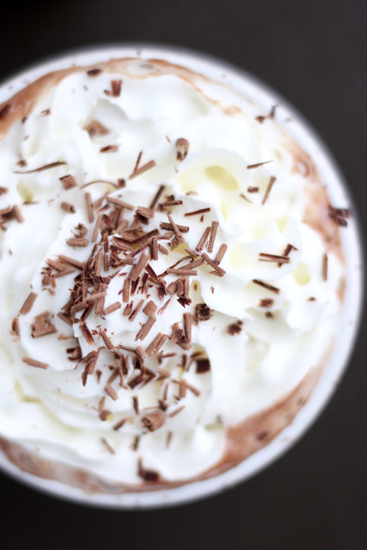 chocolate shavings on top of whipped cream
