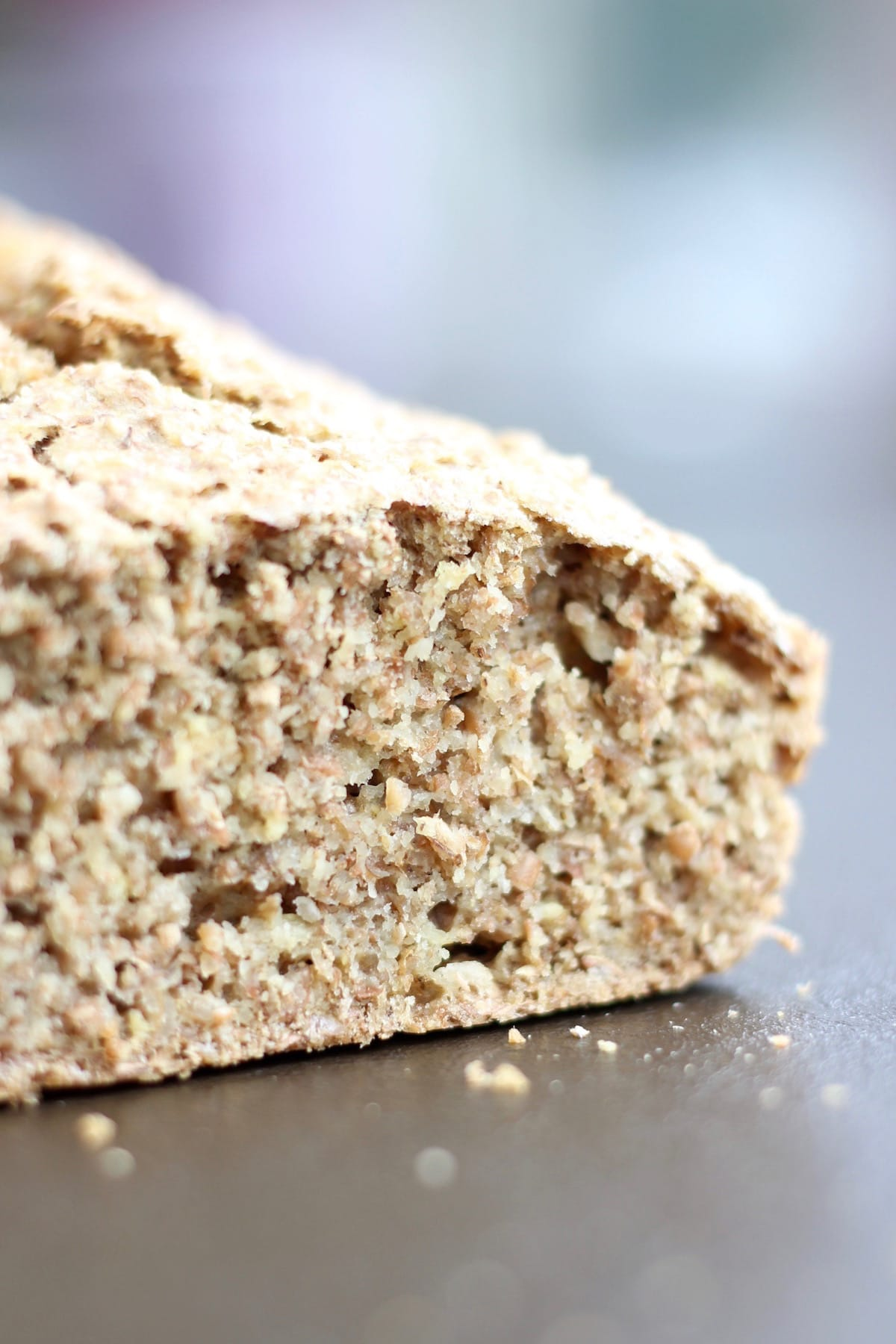 doughy brown bread
