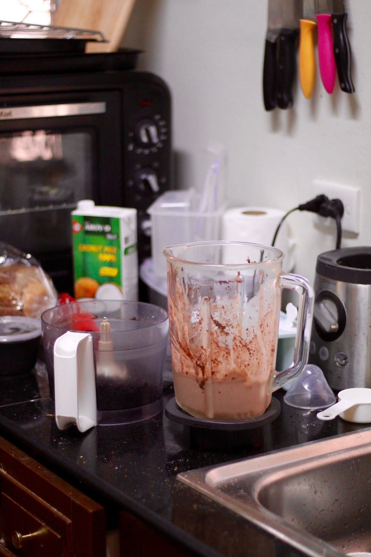 a messy kitchen after making fudgesicles