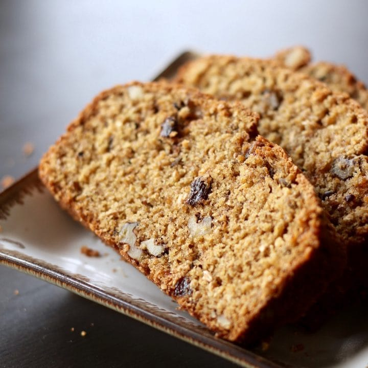 Vegan Walnut Raisin Bread
