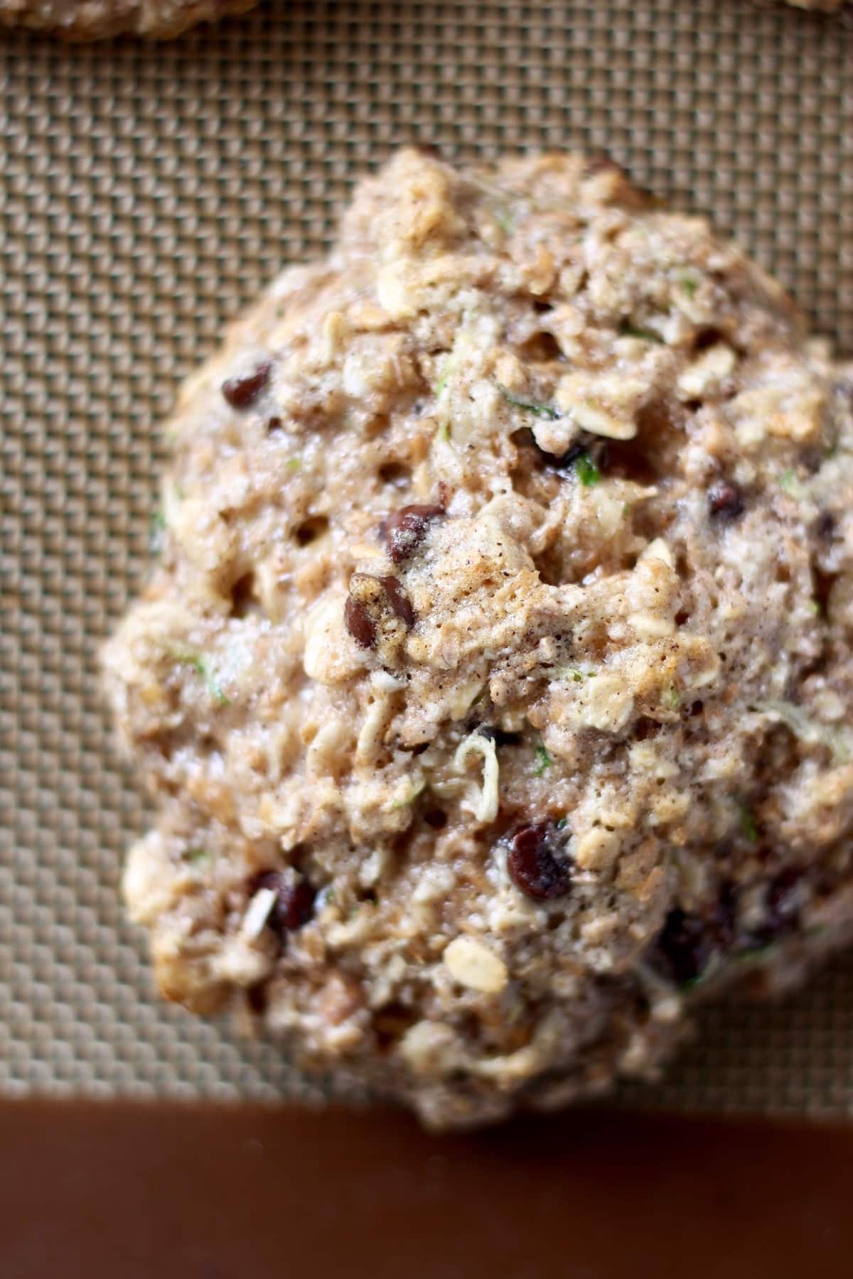 chocolate chip studded zucchini oatmeal cookies