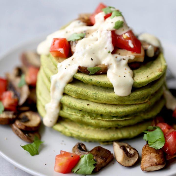 Savory Chickpea Flour Falafel Pancakes! | Vegan + Gluten Free
