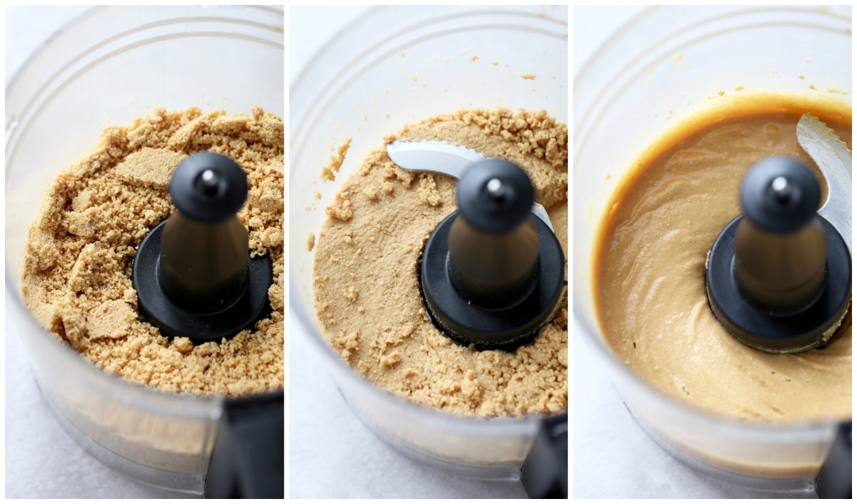 peanuts being processed into peanut butter