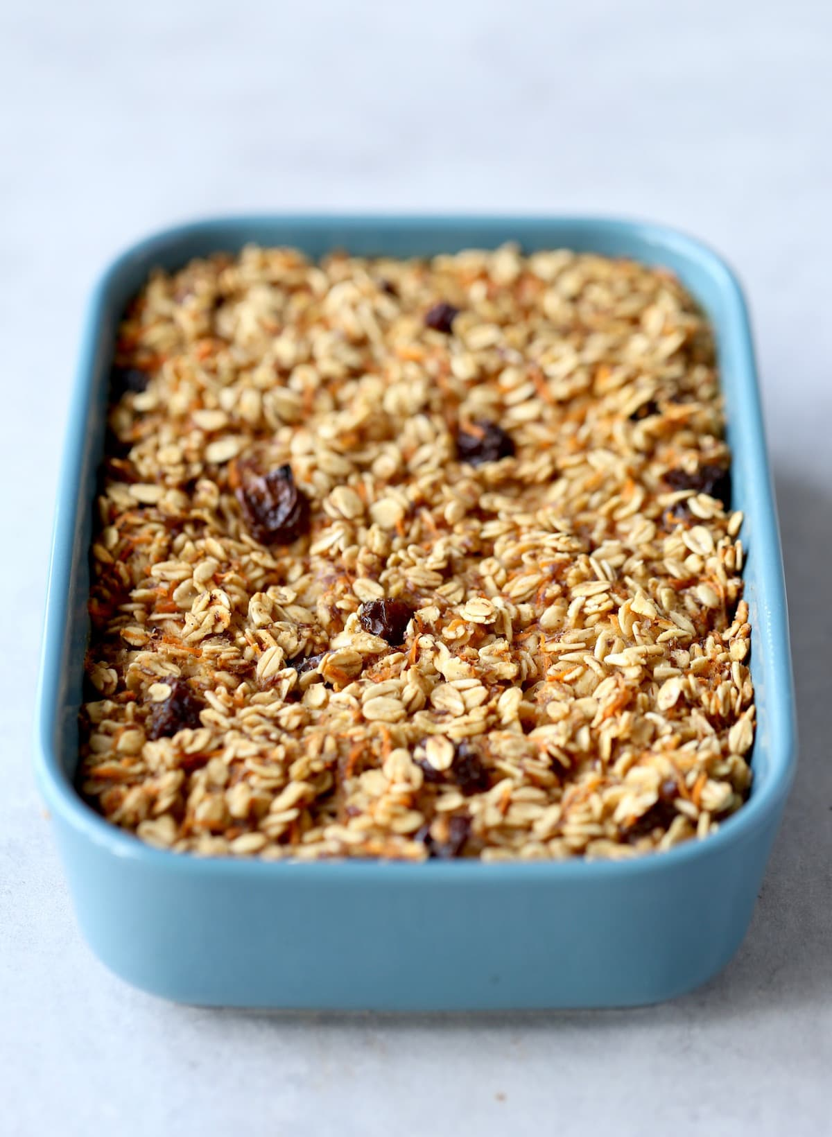 carrot caked baked oatmeal right out of the oven