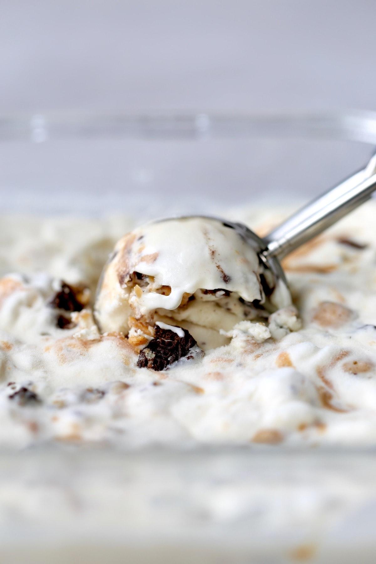 scoopable cookies and cream vegan ice cream