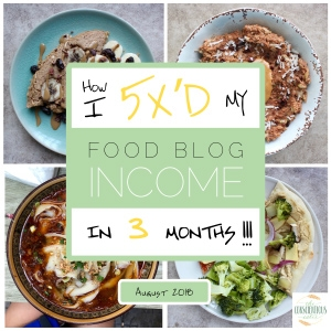 How I 5X'd My Food Blog Income In 3 Months