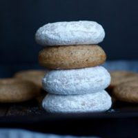 Baked Vegan Powdered Doughnuts