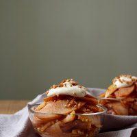 Cinnamon Pears with Maple Vanilla Cashew Cream