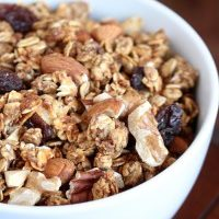 Date Sweetened Nutty Apple Granola