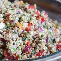 Easy Vegan Mediterranean Quinoa Salad