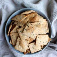 Homemade Whole Grain Sesame Crackers