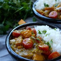 Pumpkin and Carrot Curry + China Market Scenes