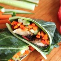 Raw Vegan Veggie Collard Wraps