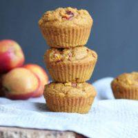 Vegan Pumpkin Nectarine Oatmeal Muffins