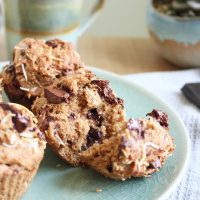 Toasted Coconut Chocolate Chunk Vegan Muffins