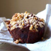 Vegan Chocolate Banana Muffins with Pecan Streusel