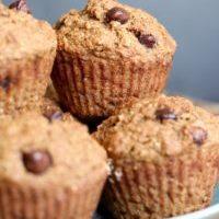 Vegan Oil Free Oat Bran Applesauce Muffins
