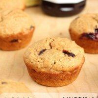Low-Fat Vegan PB & J Muffins
