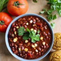 Vegan Pressure Cooker Black Bean Chili