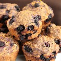 Vegan Blueberry Muffins (Whole Wheat)