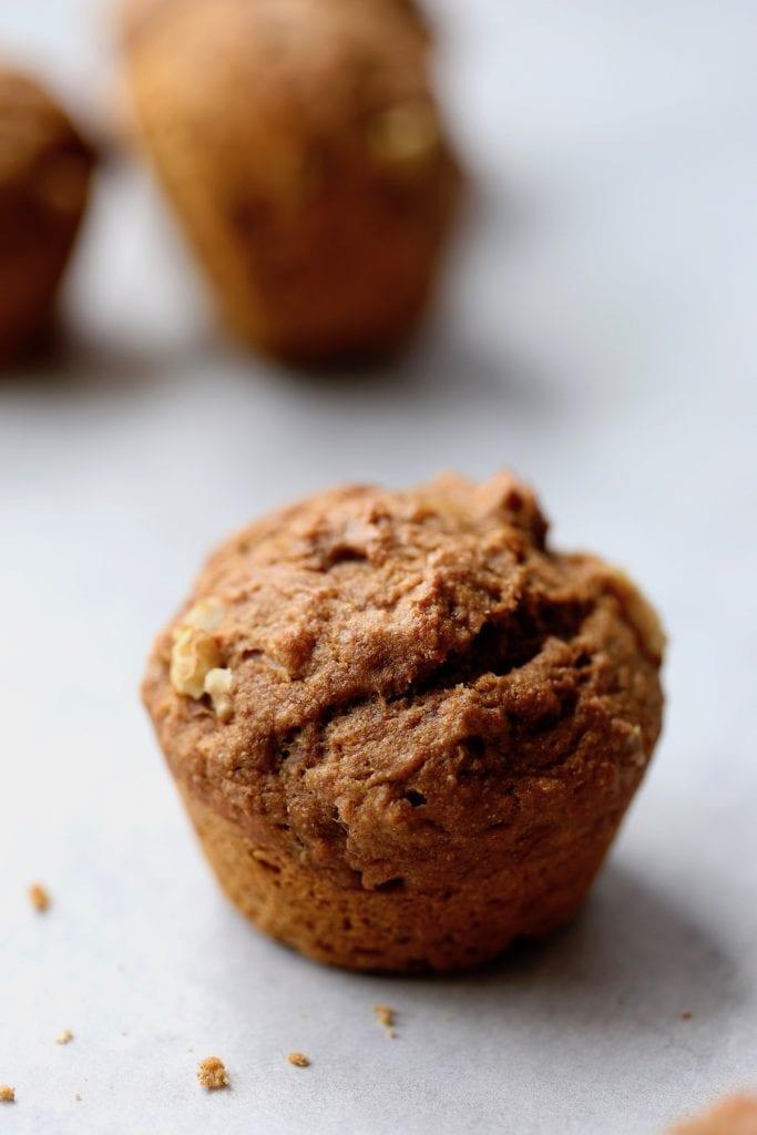 wholesome vegan banana nut muffins