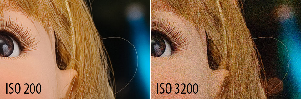 the difference between ISO 200 and ISO 3200 in photography