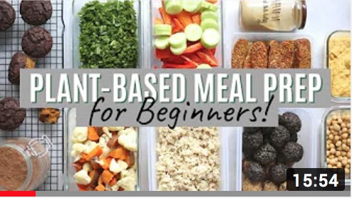 plant based meal prep for beginners video thumbnail