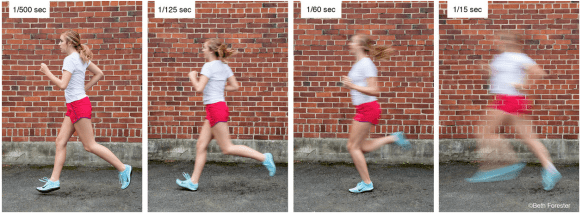 Shutter speed explained showing a runner photographed in motion