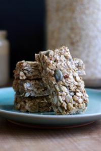 vegan granola bars stacks