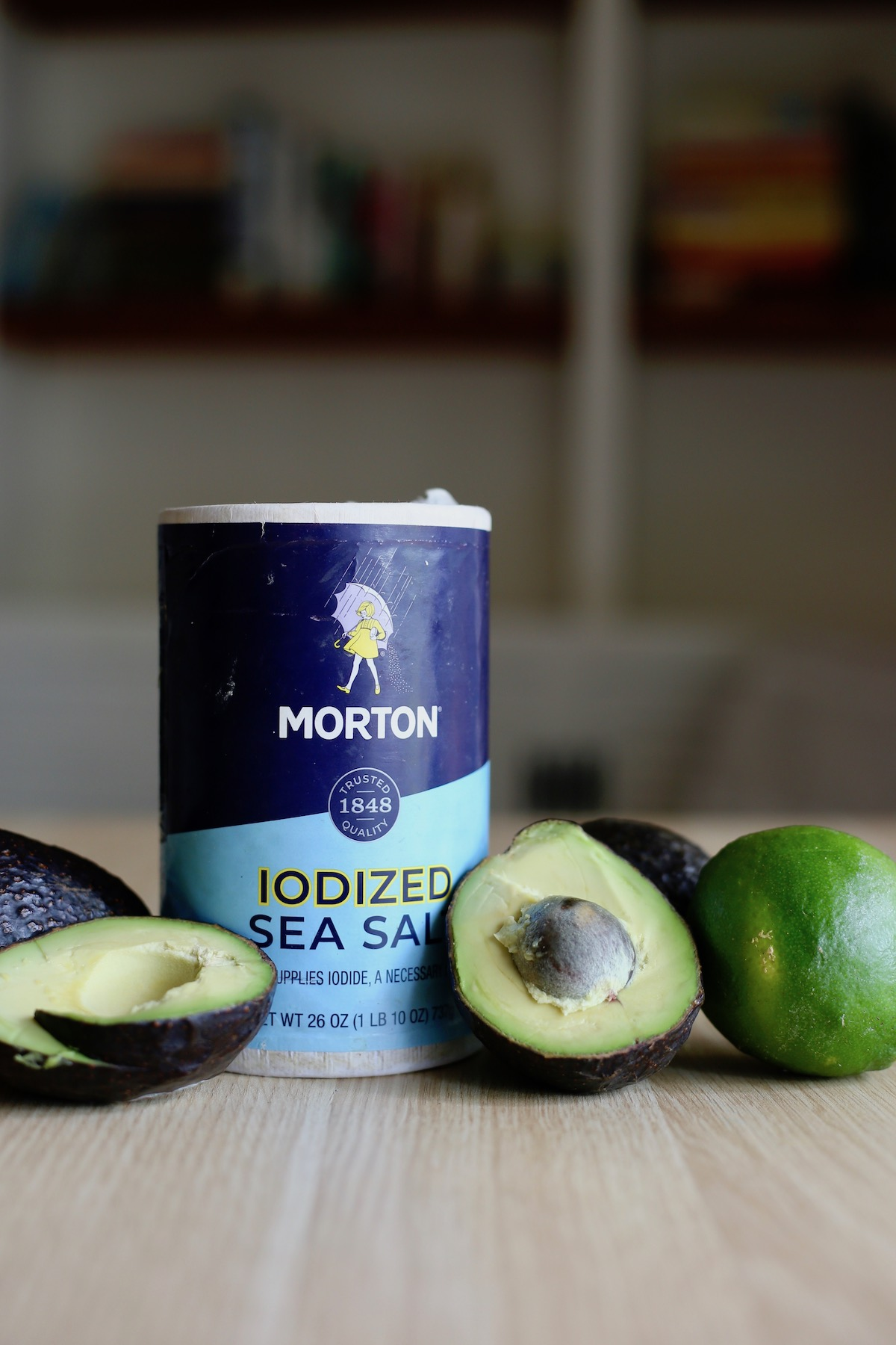 the three ingredients you'll need for an easy guacamole recipe on a table