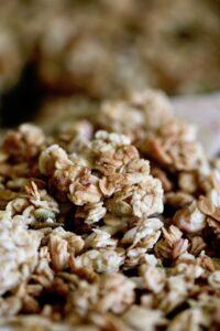 Easy tahini granola