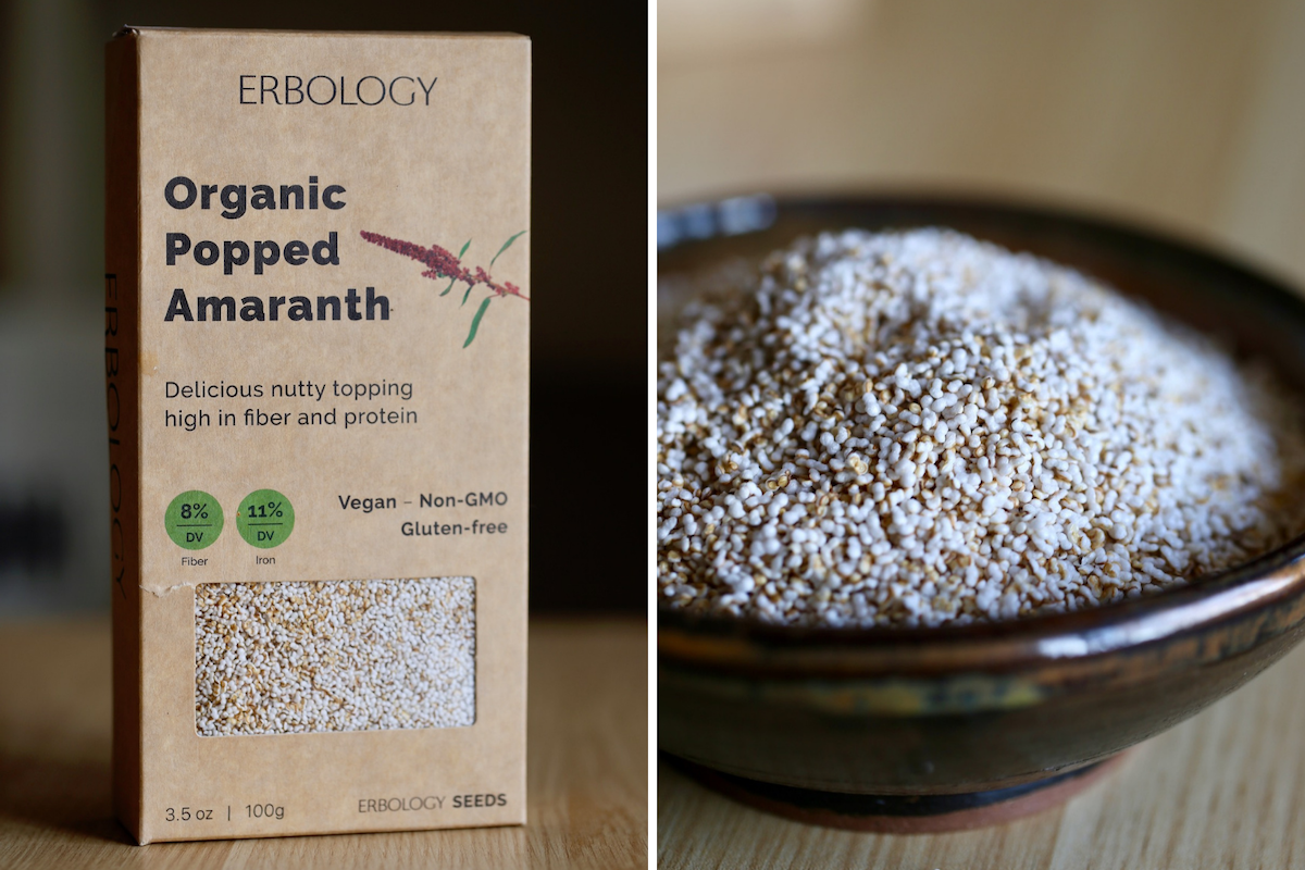 popped amaranth from Erbology