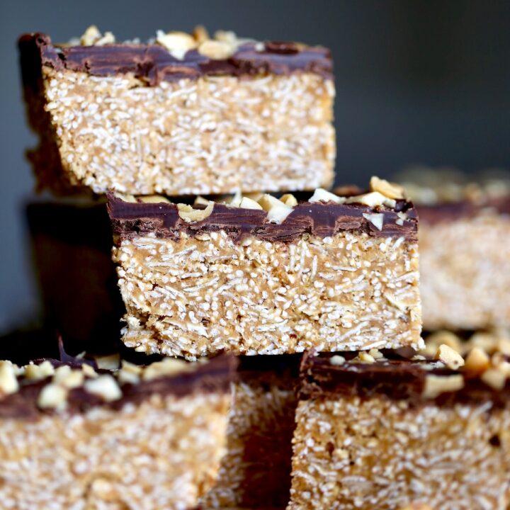 Healthier Peanut Butter Bars (Vegan + Gluten-Free!)
