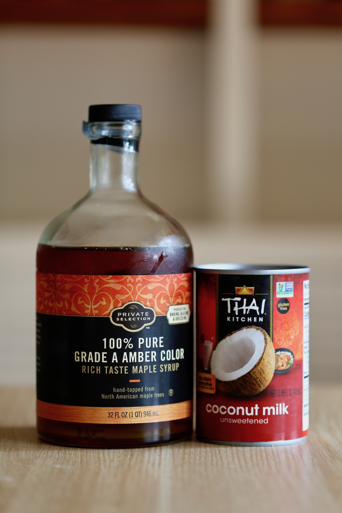 maple syrup and full-fat coconut milk whipped cream for coconut milk whipped cream