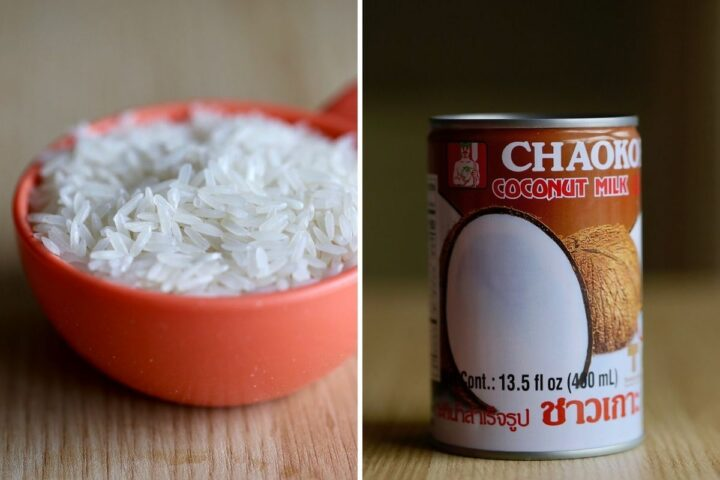 the main ingredients you'll need to make coconut rice