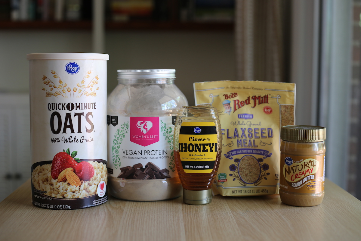 Ingredients you'll need for Peanut Butter Protein Balls