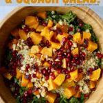 Quinoa, Kale & Squash salad, an excellent vegan fall recipe