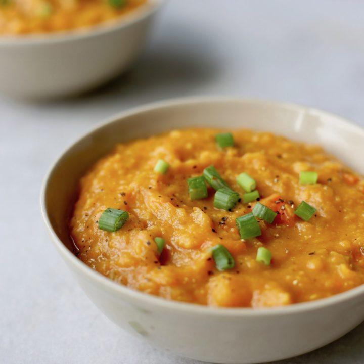 Red Lentil Pumpkin Soup (Vegan and Gluten Free )