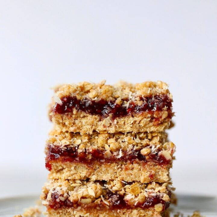 Vegan Strawberry Jam Oatmeal Bars