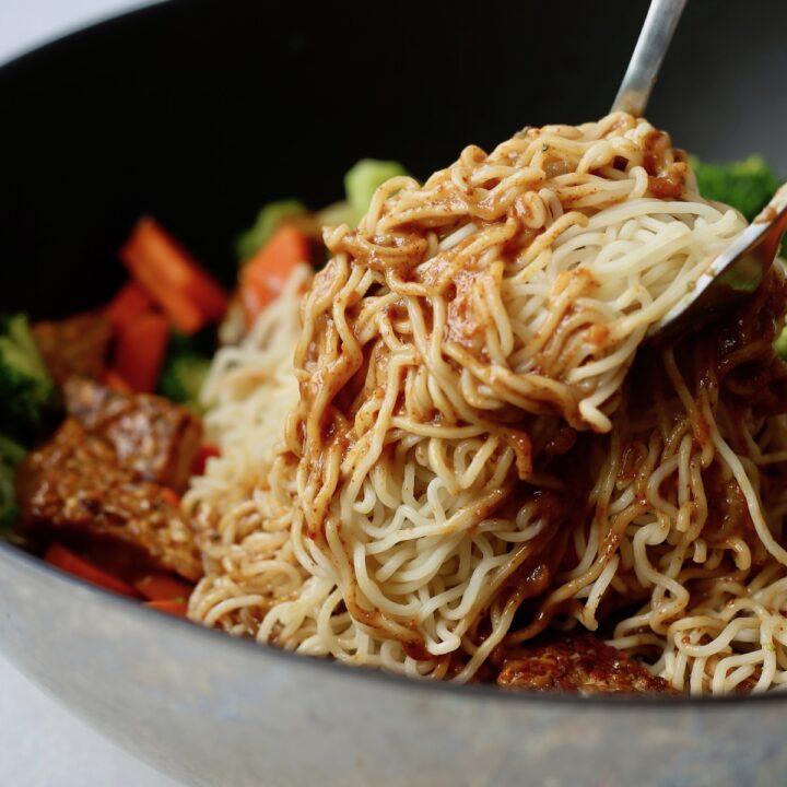 Vegan Almond Butter Soba Noodles