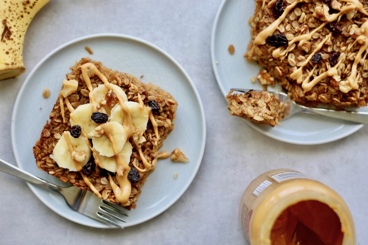 Baked Oatmeal with toppings
