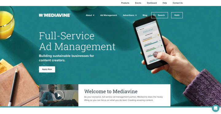 mediavine.com homepage