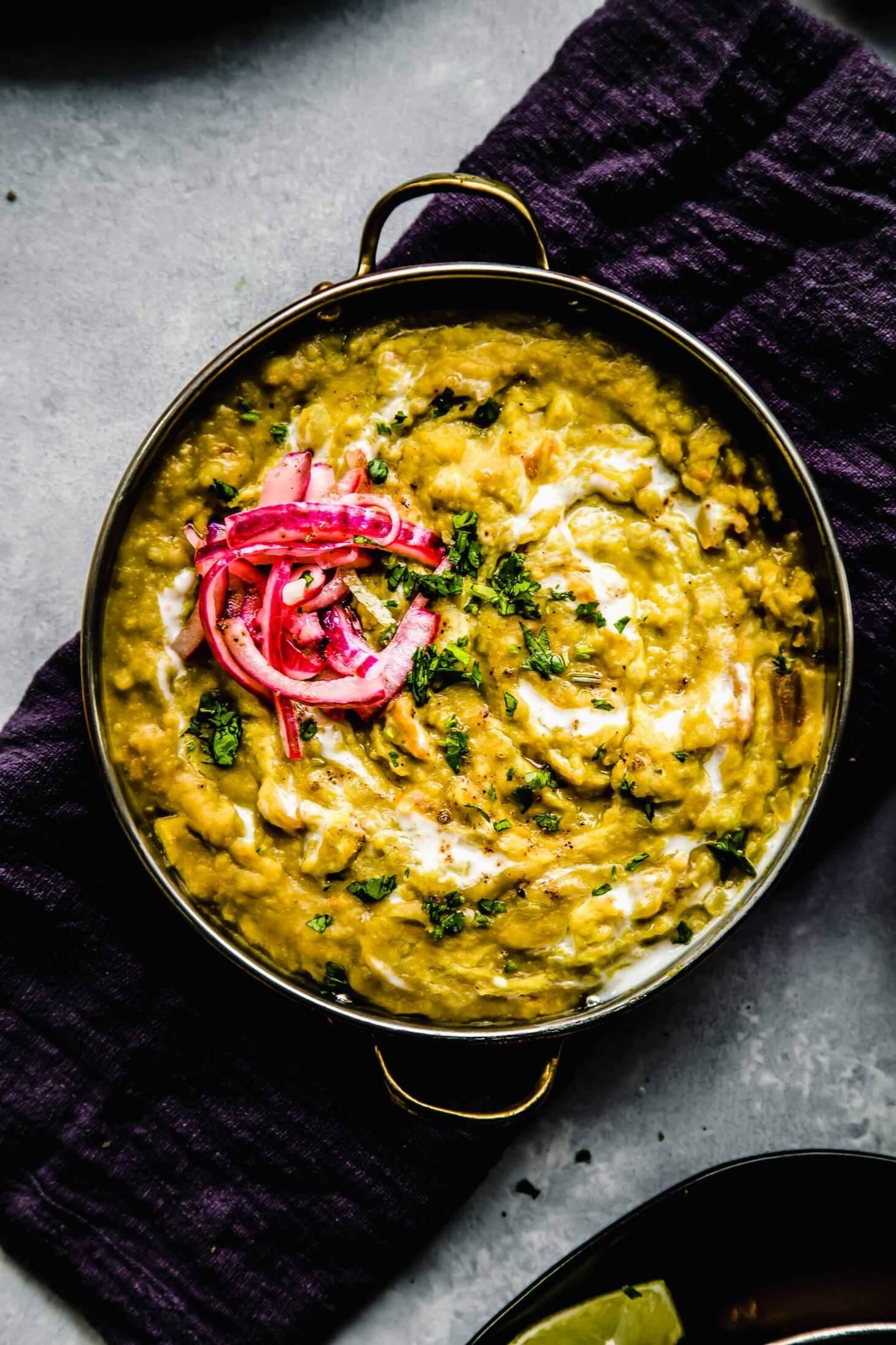 Lentil Dal with Split Peas